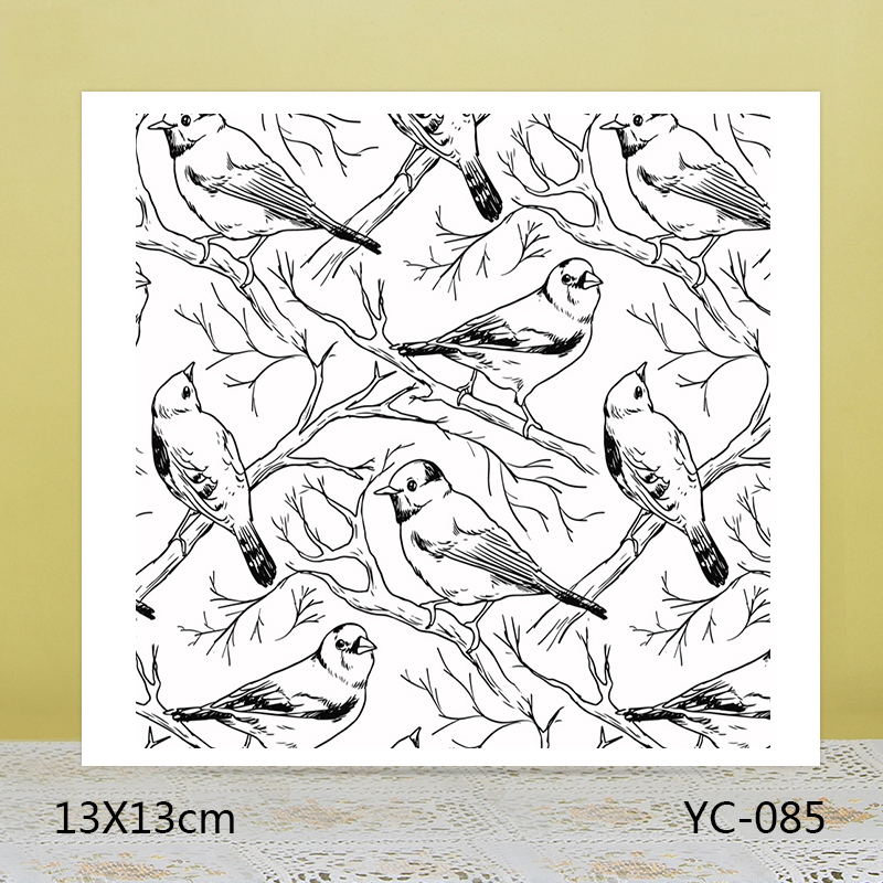 ZhuoAng A flock of birds Claus Clear Stamps For DIY Scrapbooking/Card Making Decorative Silicon Stamp Crafts