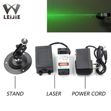 цена на 532nm 200mW 12V DOT 30*55mm High Power Green Laser Module Room Escape Laser Array Props with Fan TTL Long Time Holder Adapter