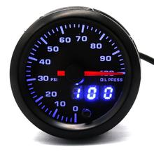 12V 0-100PSI Oil pressure gauge 7 Colors LCD Digital Sensor Modified instrument Car Auto