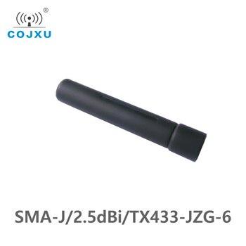 433MHz 2.5dBi Gain 50 Ohm SMA-J Interface Impedance Less Than 1.5 SWR COJXU TX433-JZG-6 High-Quality Omnidirectional Antenna