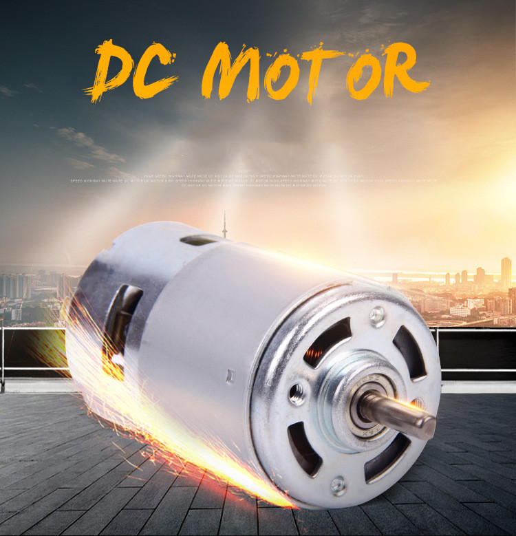 775 <font><b>DC</b></font> <font><b>Motor</b></font> 3500--9000 RPM <font><b>DC</b></font> 12V-36V Ball Bearing Large Torque High Power Low Noise Hot Sale Electronic Component <font><b>Motor</b></font> image