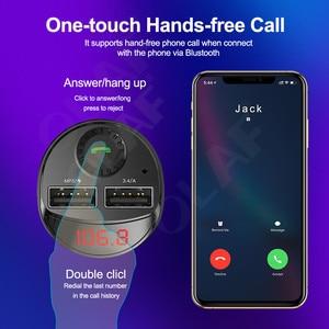 Image 4 - Olaf Bluetooth Trên Ô Tô Với Bộ Phát FM 3.4A Nhanh Dual USB Âm Thanh MP3 Người Chơi Thẻ TF Xe Hơi Xe Ô Tô sạc Điện Thoại