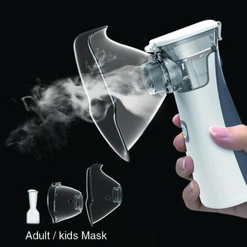 Sprzęt medyczny nebulizator ręczny astma portatil inhalator Atomizer inhalator dla dzieci mini przenośny nebulizador tanie i dobre opinie BGMMED USB or AA head Microporous Nebulizer White Gray 3μm piece 0 32kg (0 71lb ) 20cm x 12cm x 6cm (7 87in x 4 72in x 2 36in)