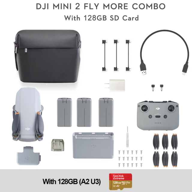DJI Mavic Mini 2 Fly More Combo + 128GB SD Card