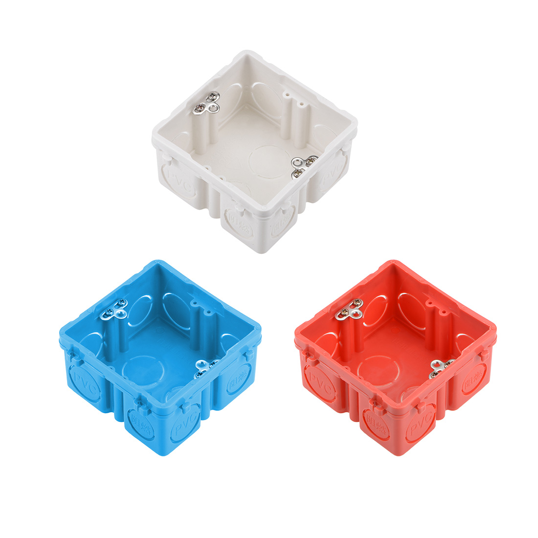 Uxcell Uxcell High Quality 1/2/10 Pieces Wall Switch Box Deep Case Recessed Mount 86 Type Single Gang Red/Blue/White