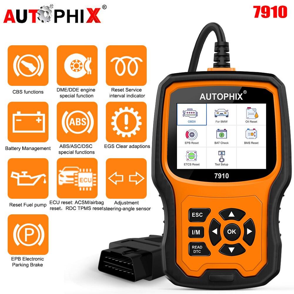 Autophix 7910 для BMW OBD2 масло сканера сервис EPB SAS подушка безопасности TPMS Сброс OBD2 диагностический инструмент для BMW OBDII Автомобильный сканер