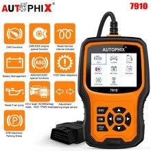 Autophix 7910 para bmw obd2 serviço de óleo scanner epb sas airbag tpms redefinir obd2 ferramenta diagnóstico para bmw obdii scanner automotivo