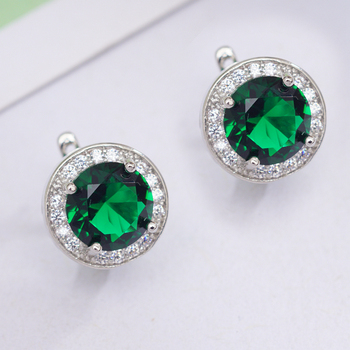 6 Colors Fashion Circle Earrings Round Cubic Zirconia Classic Hoop Earrings for Women OL Style Statement Earrings Wholesale 3
