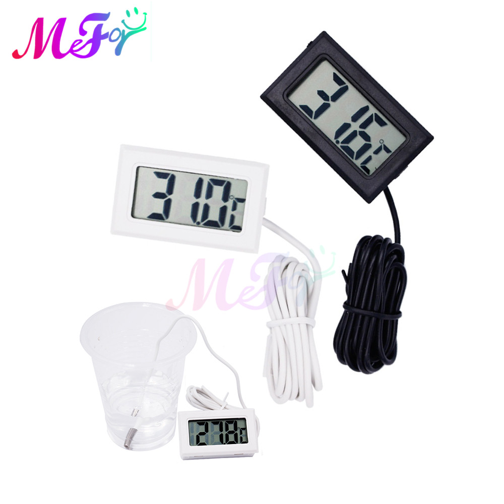1M 2M Waterproof LCD Digital Thermometer Aquarium Electronic Precision Fish Tank Temperature Measuring Tool with Probe