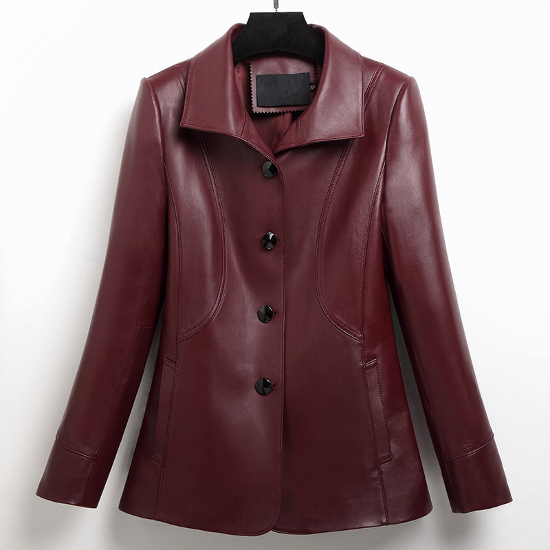 Genuine Leathe Jacket Women Real Sheepskin Leather Coats Spring Autumn 2020 Top Quality Plus Size Outwear FS7103MF570
