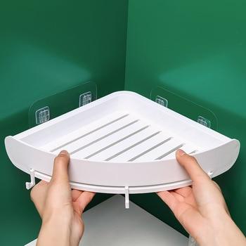 Plastic Bathroom Shelf Organizer Snap Up Corner Shelf Caddy Bathroom  Corner Shelf Shower Storage Wall Holder Shampoo Holder зискина кира для чего нужны нам лужи
