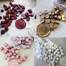 Bir çanta sızdırmazlık balmumu boncuk granül tahıl 32 34g yaklaşık 100 adet mühür mumu tablet çoklu renk mühür mühür mumu damga kullanımı ücretsiz kargo