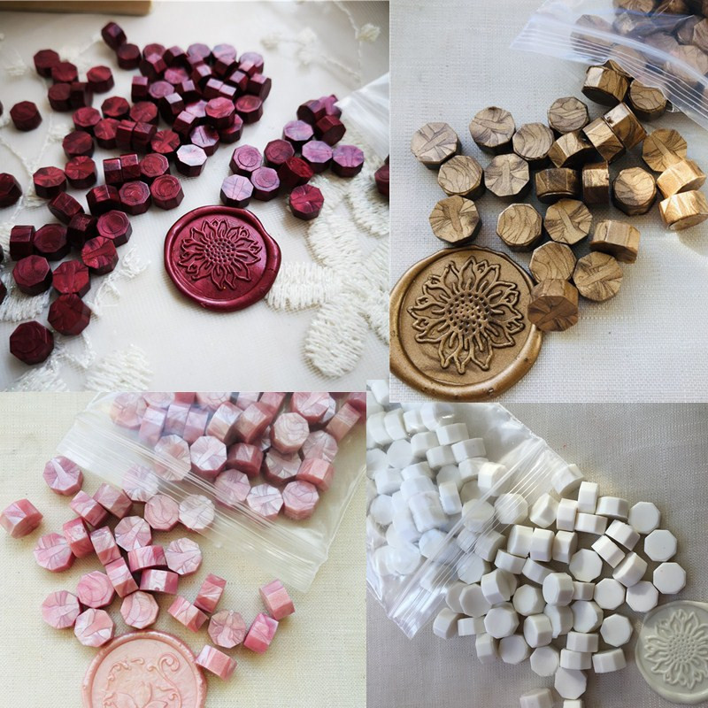 One bag Sealing Wax beads Granular Grain 32-34g around 100pcs Wax seal tablet Multi Color seal wax seal stamp use free shipping