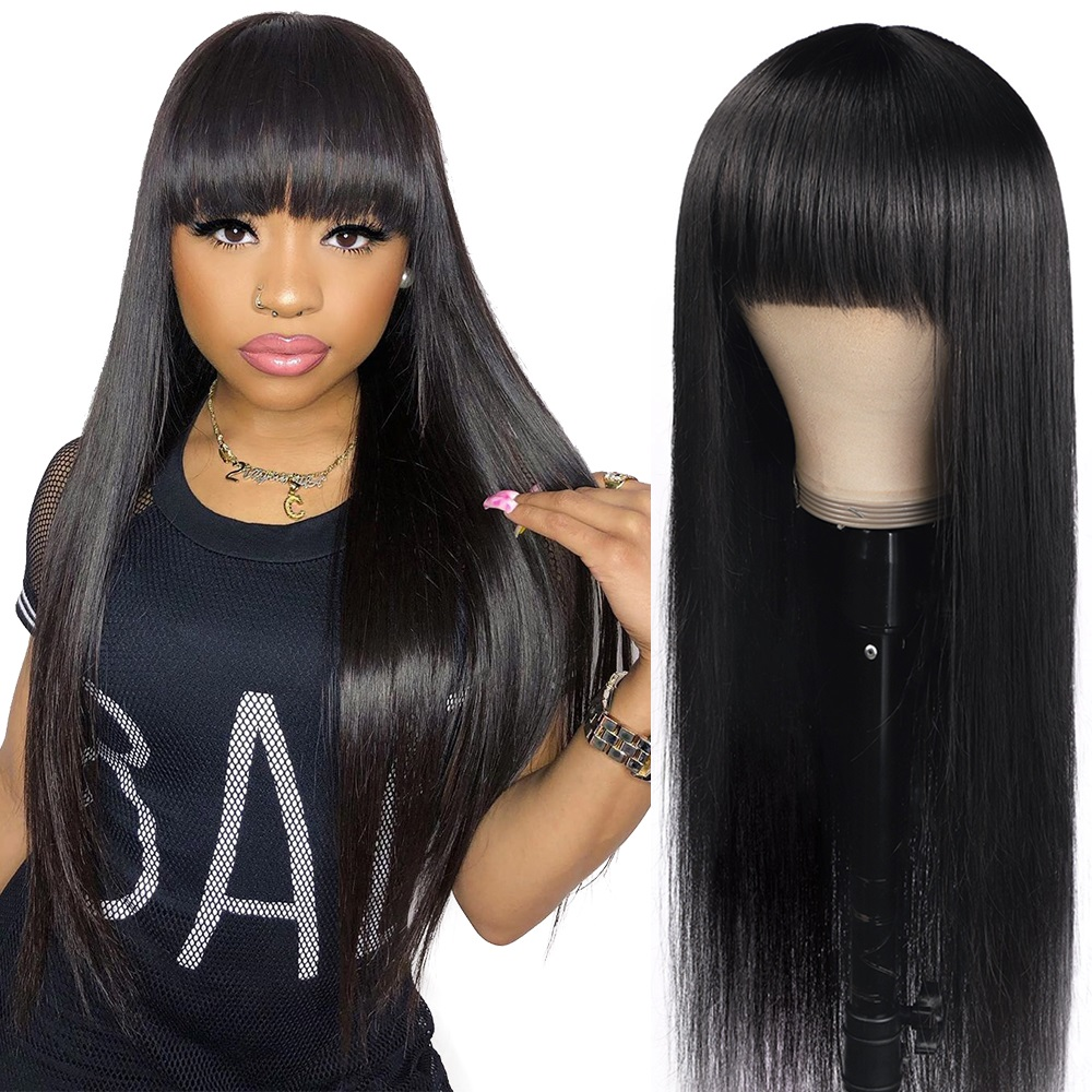 Allove-Straight-Human-Hair-Wigs-with-Bangs-Fringe-Wig-Human-Hair-Glueless-Full-Machine-Wig-Highlight