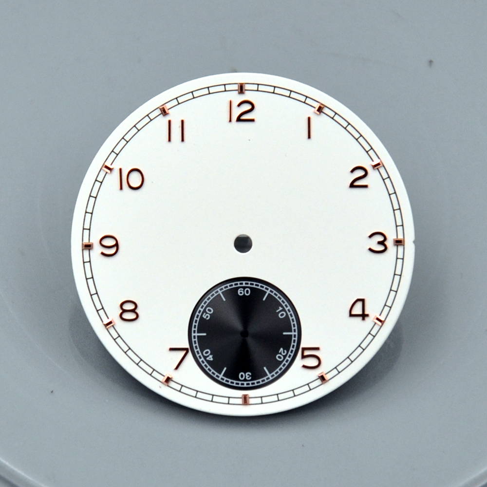 Corgeut Mens fashtion Watch Parts 38.9mm white Dial gold Numbers Marks fit 6498 <font><b>st3600</b></font> Hand Winding Movement image