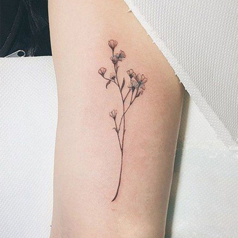 Waterproof Temporary Tattoo Sticker Sexy Baby's Breath Flower  Birds  Feather Snake Water Transfer Fake Tatoo Flash  Tattoo тату