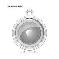 Funda de TPU suave transparente para Apple AirTags, soporte antipérdida 360, protector completo de y trasero, carcasa a prueba de golpes para mascotas, niños, perros y gatos