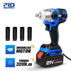 Brushless Electric Wrench 21V Impact Wrench Socket 4000mAh Li Battery Hand Drill Installation Power Tools By PROSTORMER(China)
