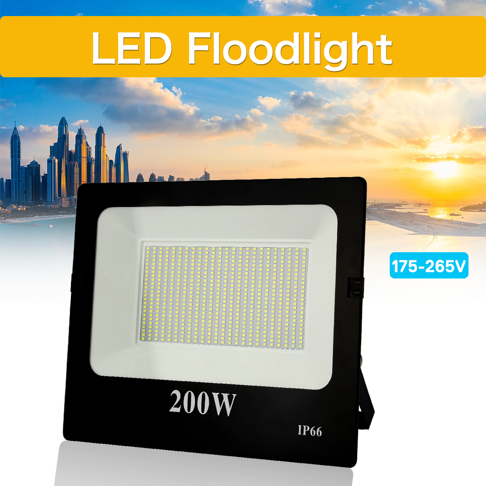 超薄型 Led フラッドライト 10 ワット 30 ワット 50 ワット 100 ワット 200 ワット 300 ワット 400 ワット 220V スポットライト屋外ガーデンランプ防水 IP66