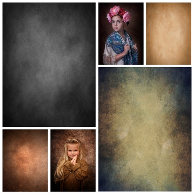 Solid Color Backdrops Vintage Grunge Portrait Photography Backgrounds Baby Shower Newborn Photophone Photozone For Photo Studio