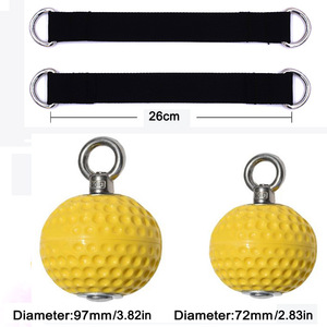 Image 2 - 97/72mm Hanging Pull Up Climbing Arm Ball Sports Kits Strength Muscle Training Hand Grip Power Wrist Fitness Force Ball Home Gym