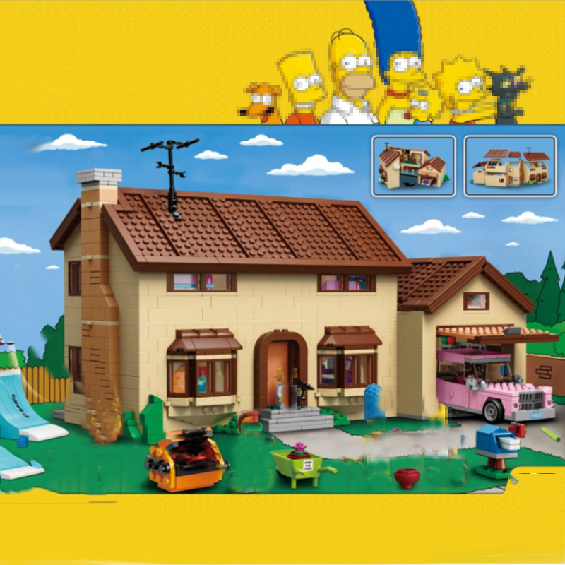 Lepinblocks 16005 Movie Simpsons House Building Block Brick Compatible With Lepining 71006 Model Toys For Kits