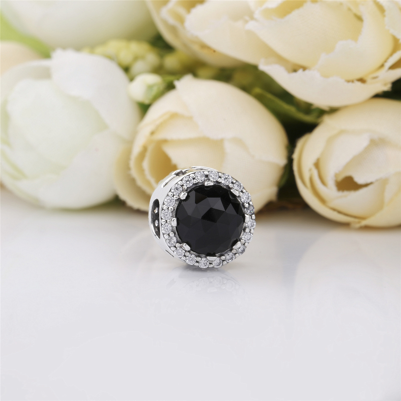 Real 925 Sterling Silver Bead Queen Magic Black Cat Eye Beading Fit Original Pandora Bracelet For Women Diy Jewelry