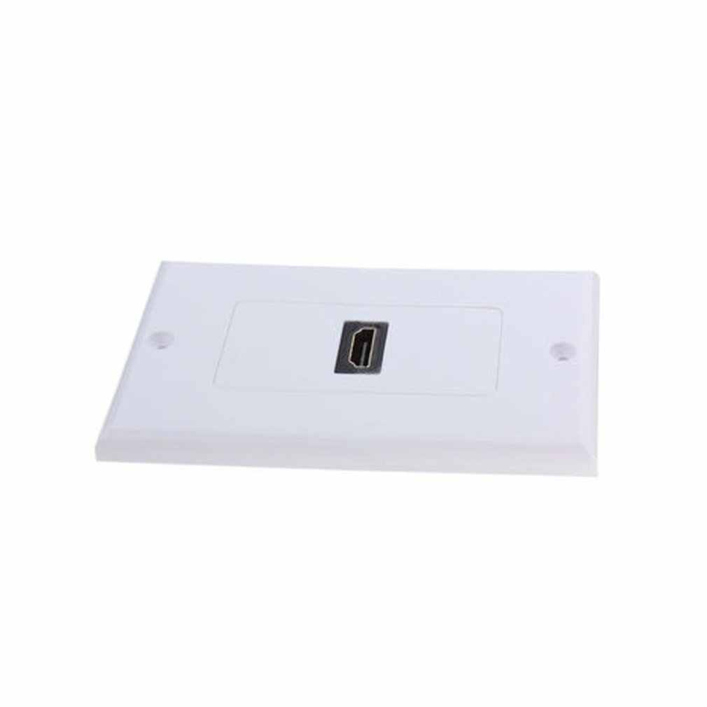 منفذ اتصال واحد الأبيض Hdmi الرصاص لوحة الحائط كامل Hd 1080 كابل تلفزيون غطاء موصل مقبس عملي