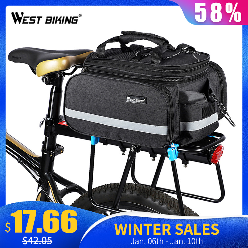 Silfrae Bike Front Handlebar Bag Bicycle Basket