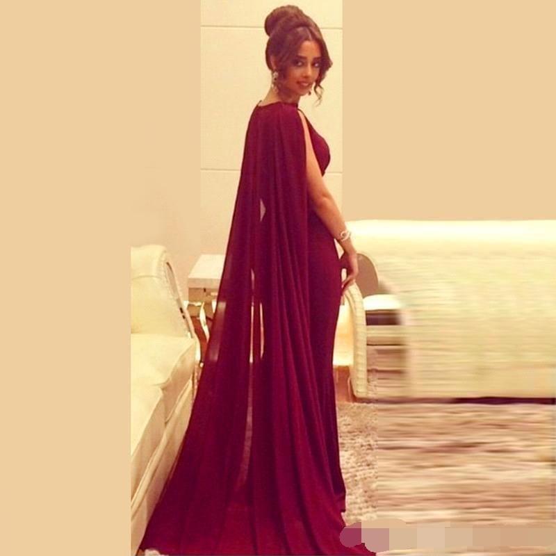 Sexy Arabic Capped long Mermaid Evening Dress 2019 robe de soiree Floor Length Formal dress women elegant simple Prom Dresses