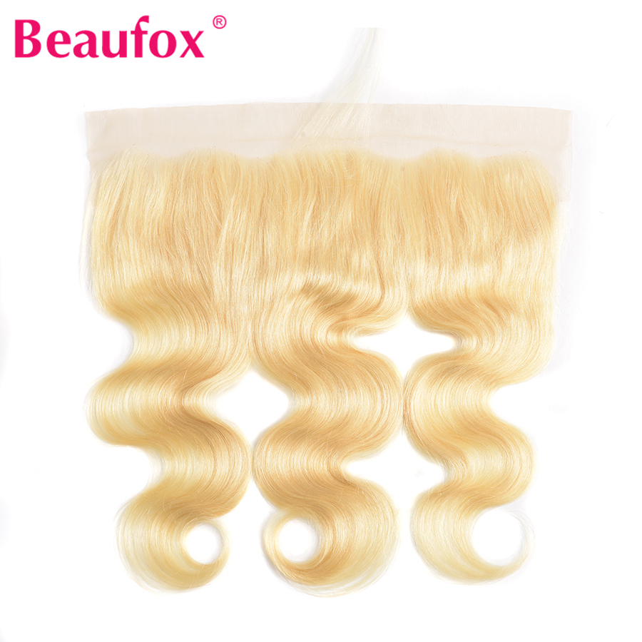 H3d6b945a4f804edf803208168f7bc066L Beaufox 613 Blonde Bundles With Frontal Brazilian Body Wave With Frontal Remy Blonde Human Hair Lace Frontal Closure With Bundle