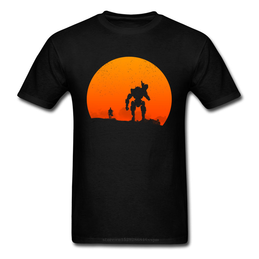 one yona Titan Respawn Entertainment Titanfall 2 Classic Tshirts Sunset Shooter Game Funny Designer Fashion T Shirt Father's Day image