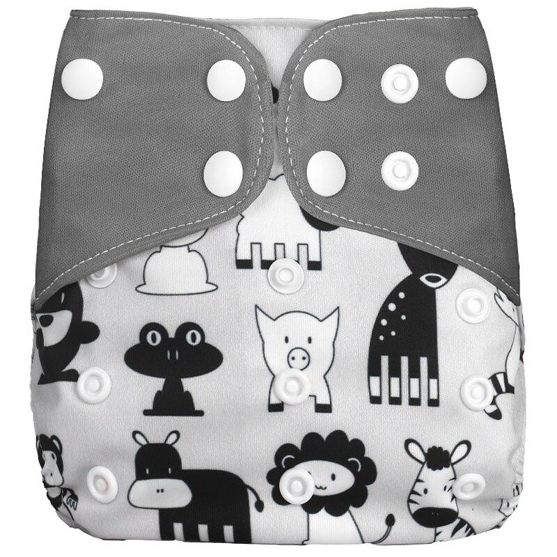 [Simfamily] 1 шт. многоразовые тканевые подгузники, регулируемые детские подгузники, моющиеся подгузники, подходят для 3-15 кг детские подгузники - Цвет: NO17