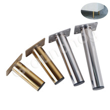 6Pcs 4Pcs Stainless Steel Furniture Legs Gold Silver Load 900KG For Sofa TV Cabinet Wardrobe Replace Feet Height 10/12/15/18CM
