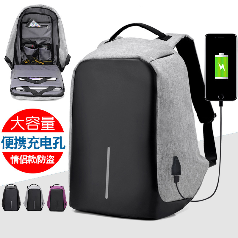 Image 4 - 15 inch Laptop Backpack USB Charging Anti Theft Backpack Men Travel Backpack Waterproof School Bag Male Mochila 2019 Laptop Bags-in Backpacks from Luggage & Bags