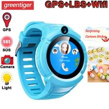 Q360 ساعة ذكية للأطفال كاميرا لتحديد المواقع واي فاي الموقع Smartwatch الأطفال SOS مكافحة خسر رصد المقتفي الطفل معصمه ساعة الاطفال الهدايا