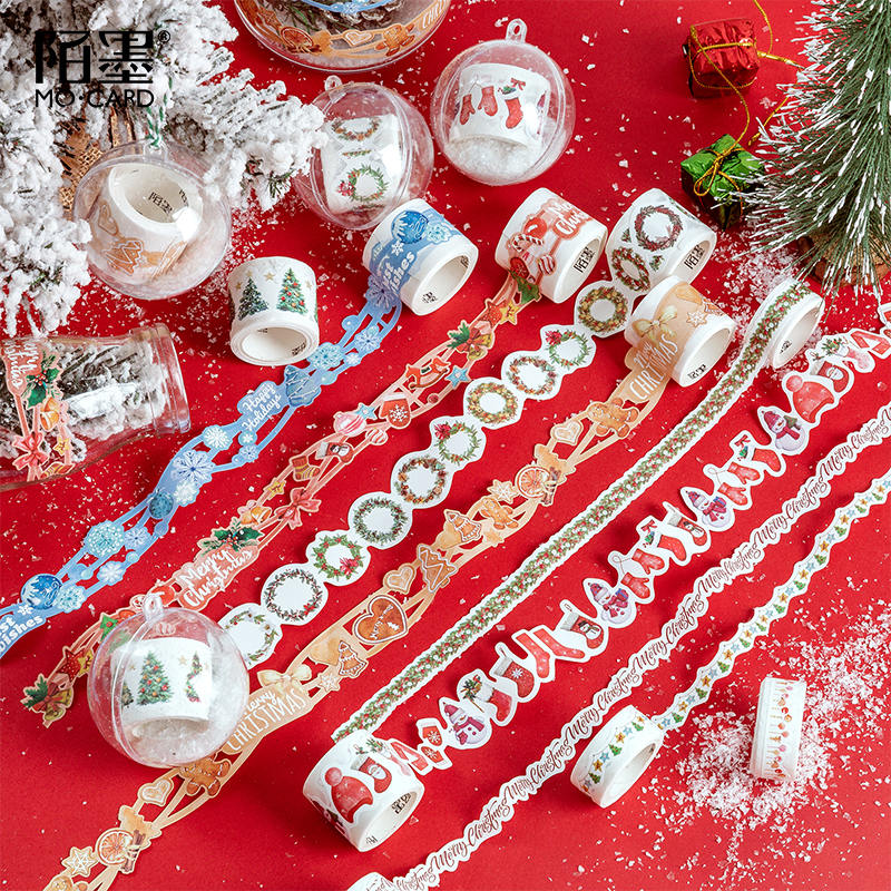 Colorful Christmas Party Series Decorative Adhesive Tape Snowman Masking Washi Tape DIY Scrapbooking Sticker Label Stationery