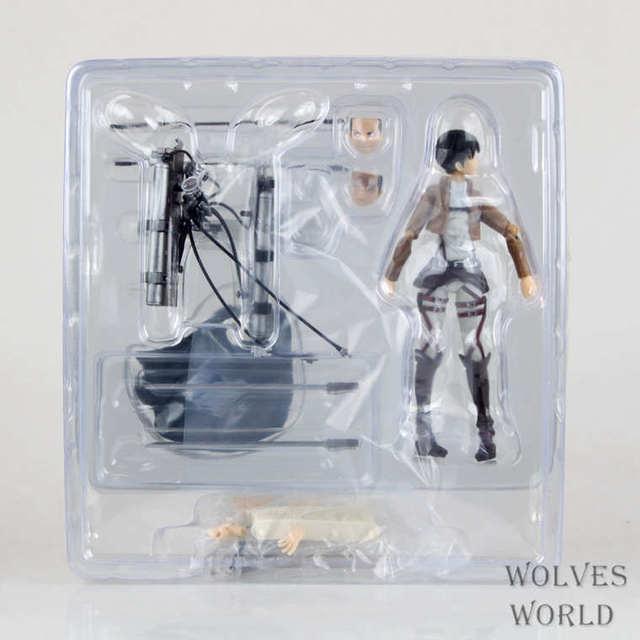 15cm New Anime Attack on Titan Eren Mikasa Levi Ackerman Figma 213 Movable Ver PVC Action Figure Collectible Model Toys 5