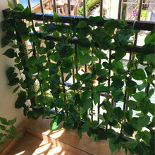 Guardrail Decoration Artificial Ivy Green Leaf Garland Plants Vine Fake Foliage Flowers Home Decor Plastic Artificial Flower(China)