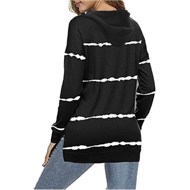 Oversize Women Tie Dye Drawstring Hooded Sweatshirt Autumn 2020 New Winter Long Sleeve Casual Loose Hoodies Tops Plus Size S-5XL 2