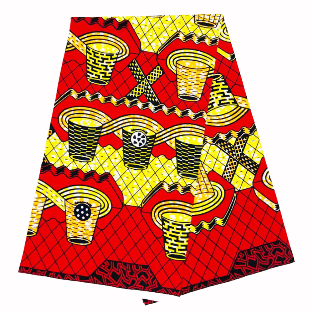Top Fashion African Wax Fabrics Real Printing Wax In 100% Cotton Fabric Ghana Ankara Design 6yards/lot Best Quality For Women
