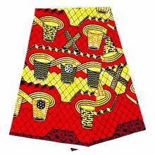 Top Fashion african wax fabrics real printing wax in 100% cotton fabric ghana ankara design 6yards/lot best quality for women 2019 dutch wax print fabric ankara fabrics veritable african wax prints fabrics 100