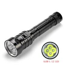 SolarStorm DX4S latarka LED do nurkowania IPX8 wodoodporna 4xXM L L2 3 tryb 4500 lumenów 26650 łodzi podwodnej nurkowania latarka