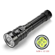 SolarStorm linterna de buceo LED DX4S, IPX8, resistente al agua, 4xXM L, L2, 3 modos, 4500 lúmenes, 26650, antorcha de buceo submarina