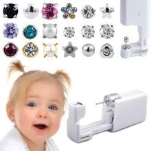 1PC Disposable Sterile Ear Piercing Unit For Baby Ear Tragus Piercing Gun Little Children NO PAIN Piercer Tool Machine Kit Stud