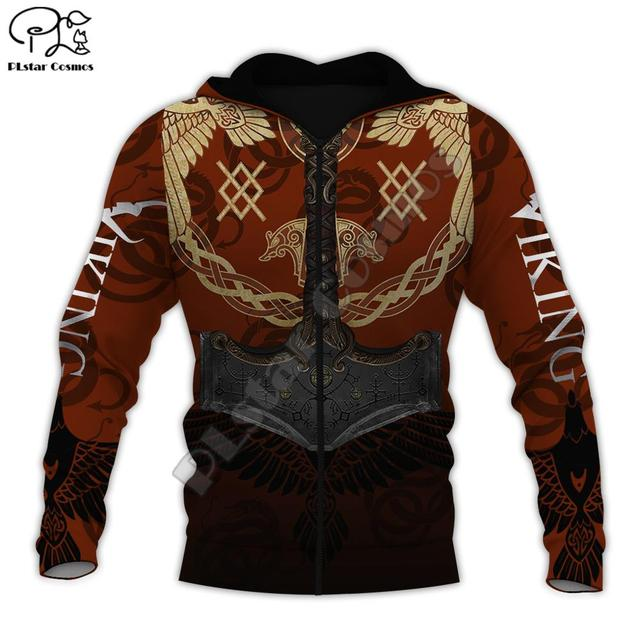 Warrior Tattoo Tracksuit Colorful 3D Print Hoodie/Sweatshirt/Jacket 2