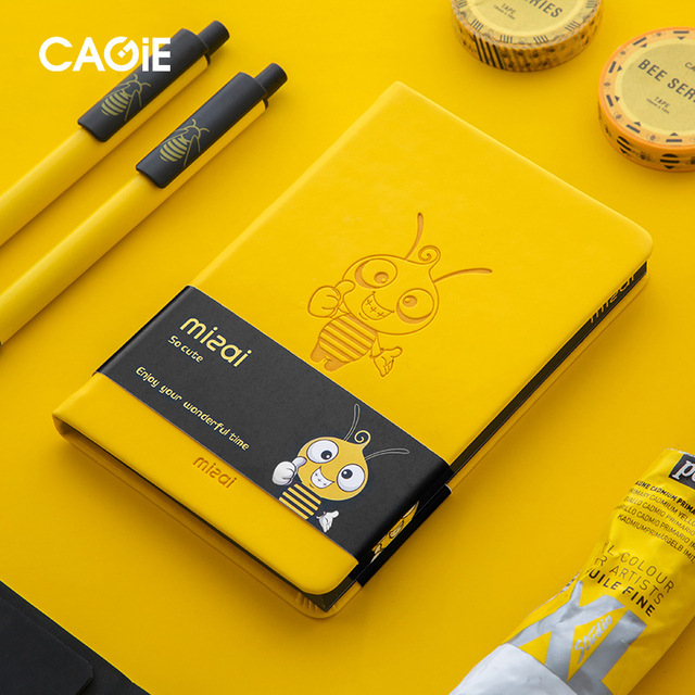 2020 Agenda Planner Organizer Kawaii Bee Notebook and Journal Cute A7 Diary Note Book Weekly Monthly Plan School Travel Handbook 1