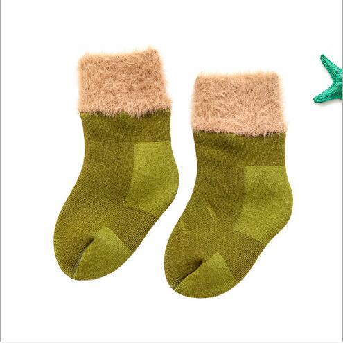 Winter new thickening baby snow socks velvet warm children's socks plus velvet comfortable baby socks footwear 3