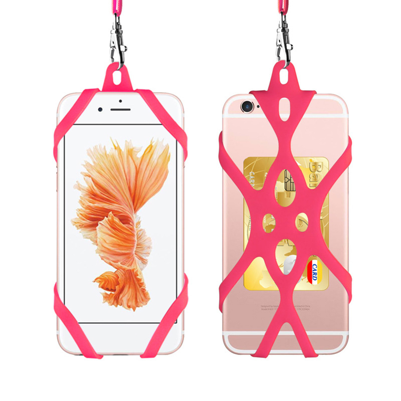 Universal 4.7-6.5in Silicone Cell Phone Lanyard Holder Case Cover Phone Neck Strap Necklace Sling For Smart Mobile Phone Lanyard