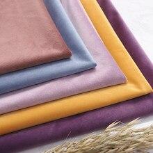 Conferência de tecido de veludo sobre pano de fundo preto grosso decorado toalha de mesa cortina tecido diy acessórios ouro vermelho 50*146cm